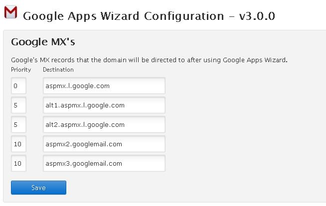Google Apps Wizard 2